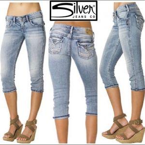 Silver Jeans MacKenzie Capri Flap Pocket Western